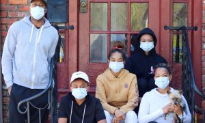 pandemic masked family