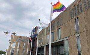 pride flag at ExamOne Quest Diagnostics